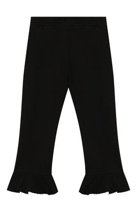 Детские хлопковые брюки PHILOSOPHY DI LORENZO SERAFINI KIDS черного цвета, арт. PJPA30/FE144/VH020/S-M   Фото 1