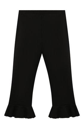Детские хлопковые брюки PHILOSOPHY DI LORENZO SERAFINI KIDS черного цвета, арт. PJPA30/FE144/VH020/XXS-XS   Фото 2