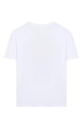 Детская хлопковая футболка PHILOSOPHY DI LORENZO SERAFINI KIDS белого цвета, арт. PJTS28/JE138/VH003/S-M | Фото 2