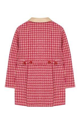 Детское шерстяное пальто GUCCI розового цвета, арт. 595400/XWAH9 | Фото 2