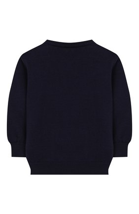 Детский хлопковый пуловер FENDI синего цвета, арт. BUG040/A3TE/3M-9M | Фото 2