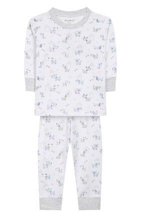 Детский хлопковая пижама KISSY KISSY голубого цвета, арт. KB604328I | Фото 1