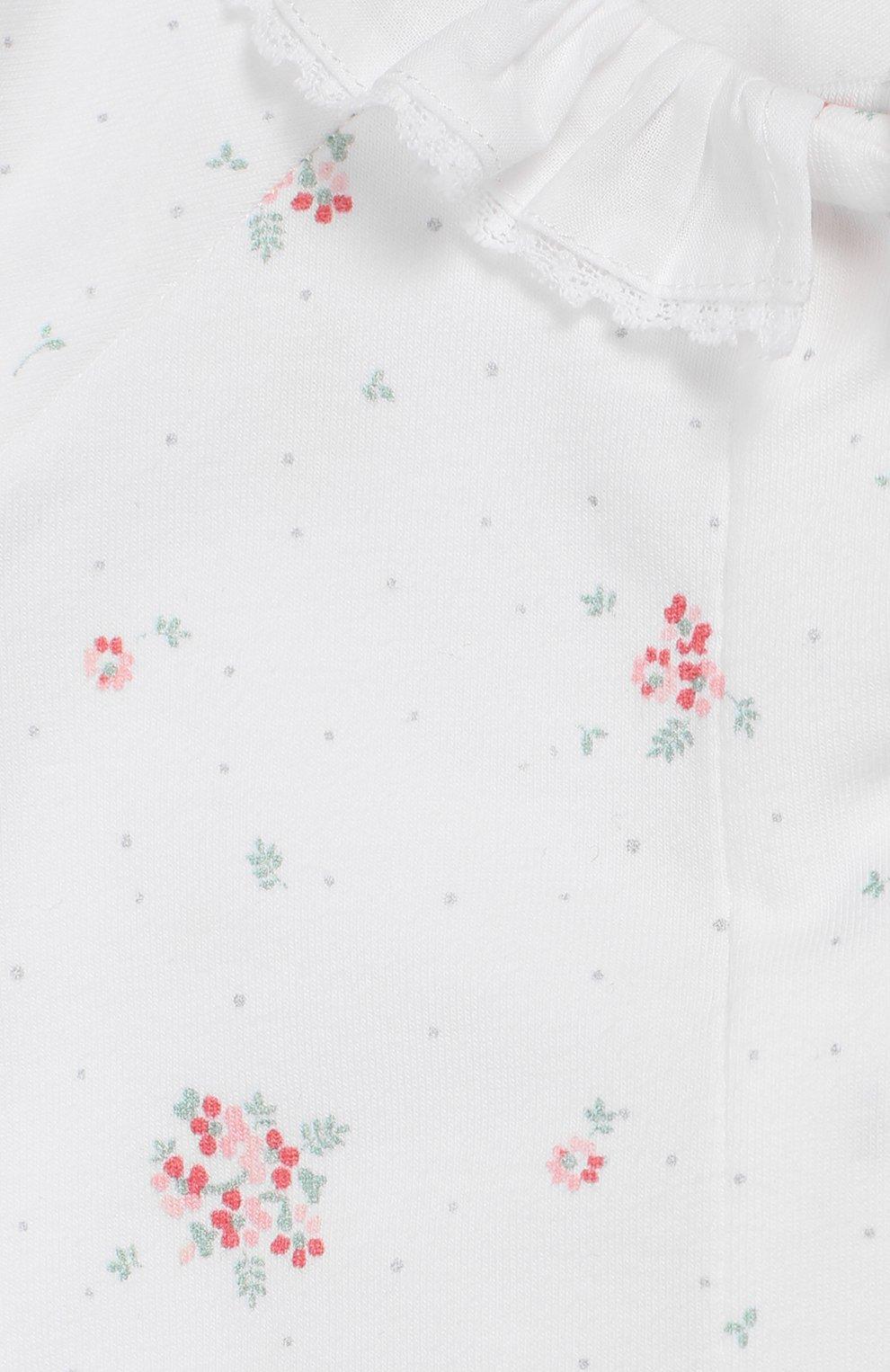 Детский хлопковый комбинезон TARTINE ET CHOCOLAT белого цвета, арт. TQ54051/18M-3A | Фото 3