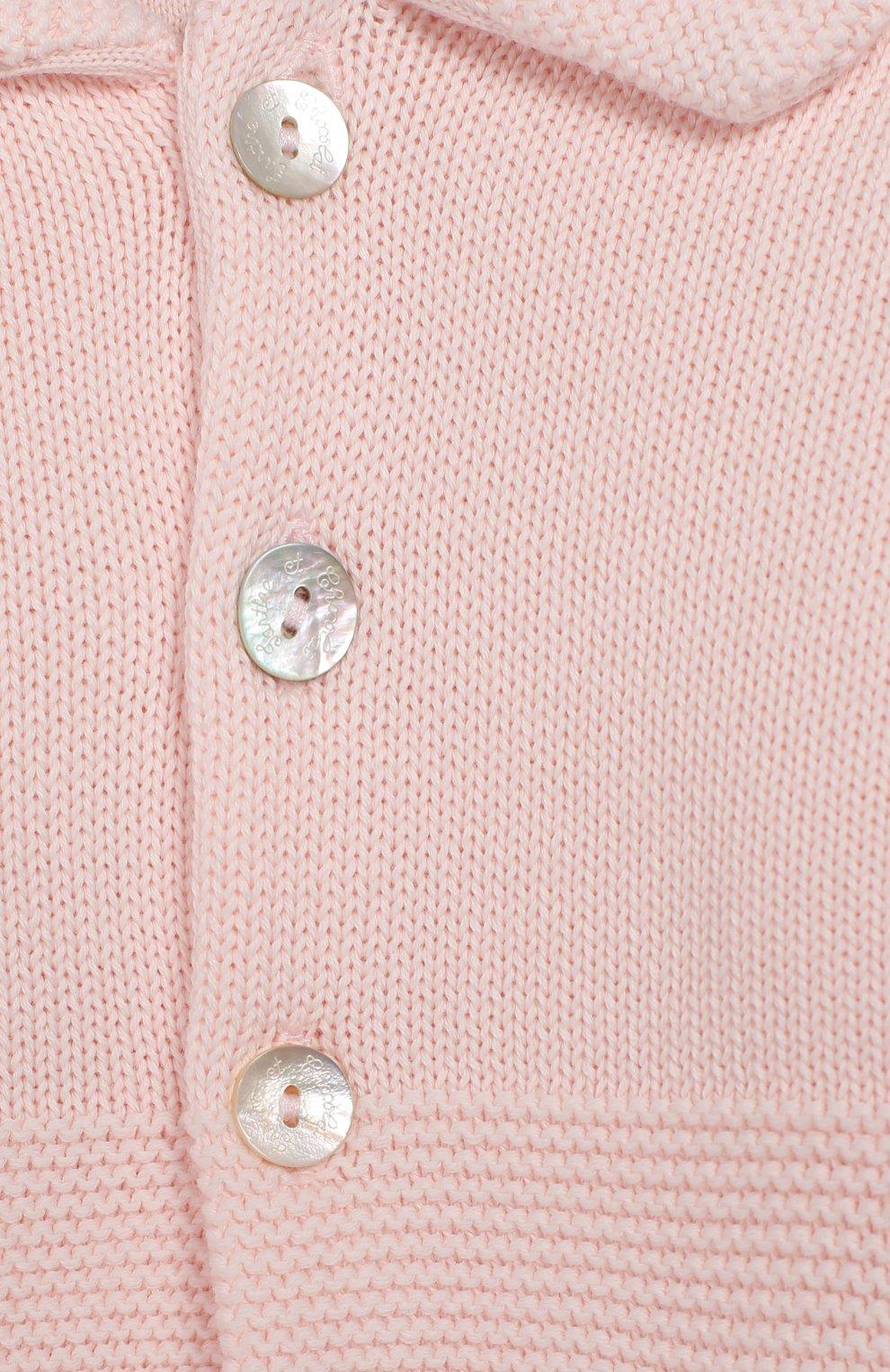 Детский хлопковый кардиган TARTINE ET CHOCOLAT розового цвета, арт. TQ44011/1M-1A   Фото 3