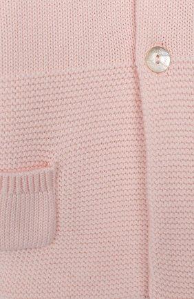 Детский хлопковый кардиган TARTINE ET CHOCOLAT розового цвета, арт. TQ44011/18M-3A | Фото 3