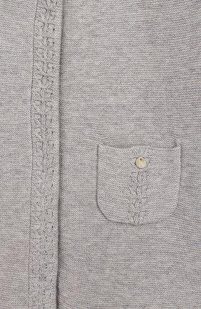Детский хлопковый комбинезон TARTINE ET CHOCOLAT серого цвета, арт. TQ32001/18M-3A   Фото 3