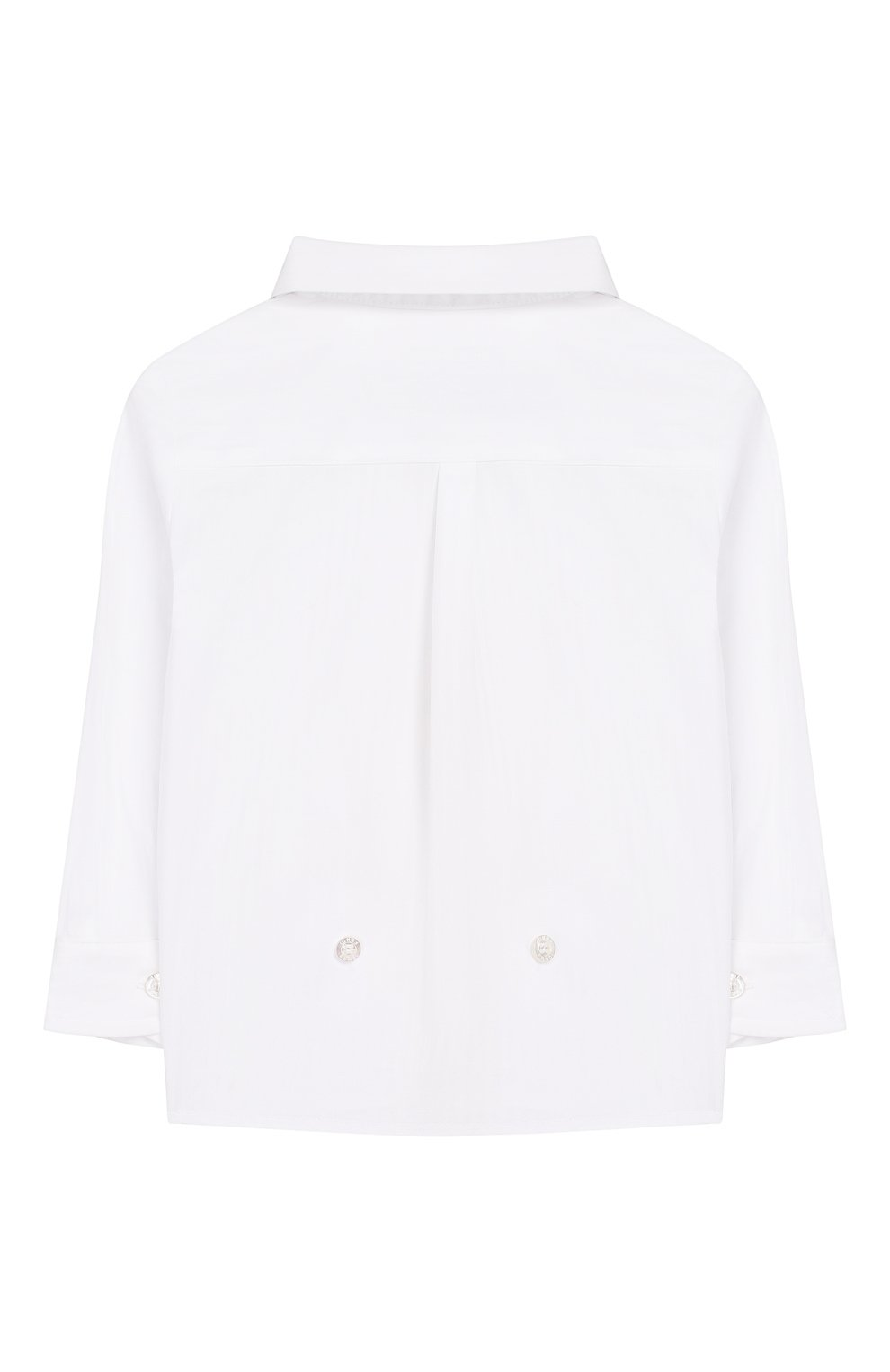 Детский хлопковая рубашка FENDI белого цвета, арт. BMC059/ABYN/12M-24M | Фото 2