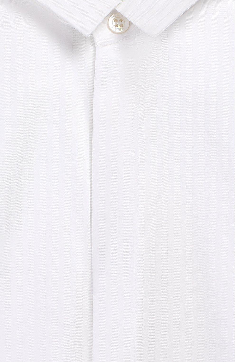 Детский хлопковая рубашка FENDI белого цвета, арт. BMC059/ABYN/12M-24M | Фото 3