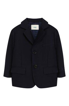 Детский пиджак FENDI темно-синего цвета, арт. BMA103/ABYM/12M-24M | Фото 1
