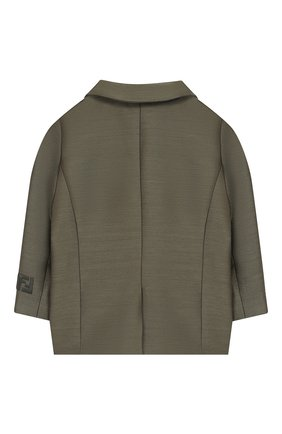 Детский пиджак FENDI хаки цвета, арт. BMA103/ABYM/12M-24M | Фото 2