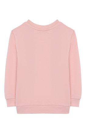 Детский хлопковый свитшот FENDI светло-розового цвета, арт. BFH056/5V0/12M-24M | Фото 2