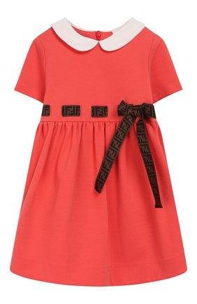 Женский платье FENDI кораллового цвета, арт. BFB291/A6IK/12M-24M | Фото 1