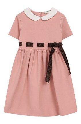Женский платье FENDI розового цвета, арт. BFB291/A6IK/12M-24M | Фото 1