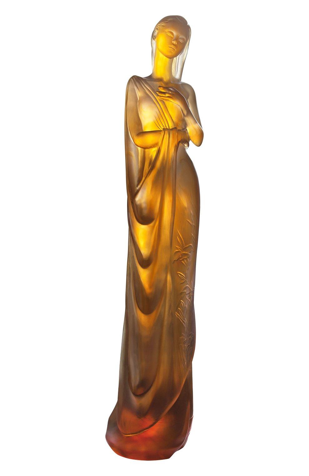 Мужского скульптура le lys d`eau DAUM оранжевого цвета, арт. 05582 | Фото 1