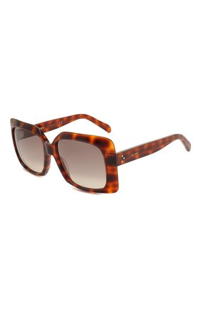 Женские солнцезащитные очки CELINE EYEWEAR коричневого цвета, арт. 40096I | Фото 1