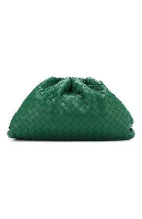 Женский клатч pouch BOTTEGA VENETA зеленого цвета, арт. 576175/VCPP0 | Фото 1