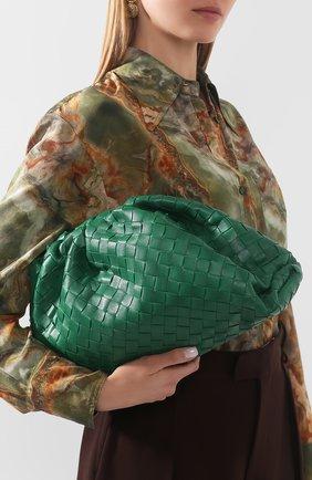 Женский клатч pouch BOTTEGA VENETA зеленого цвета, арт. 576175/VCPP0 | Фото 2