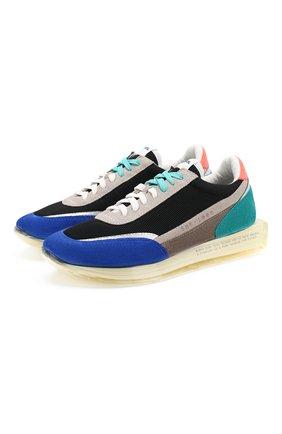 Мужские комбинированные кроссовки RBRSL синего цвета, арт. 7X2256U.V78TX3TC73 | Фото 1
