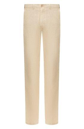 Мужские льняные брюки CORNELIANI бежевого цвета, арт. 854EX5-0120184/00 | Фото 1