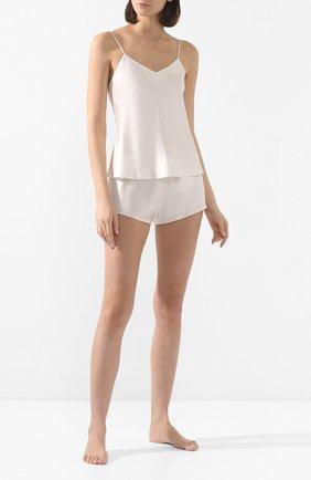 Женские шелковые шорты LUNA DI SETA кремвого цвета, арт. L630014_0004 | Фото 2