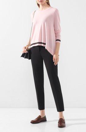 Женская шерстяной пуловер DOROTHEE SCHUMACHER розового цвета, арт. 710101/T0UCH 0F SHINE | Фото 2