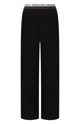 Женские брюки из вискозы ERMANNO ERMANNO SCERVINO черного цвета, арт. 46T PL04 RAS   Фото 1