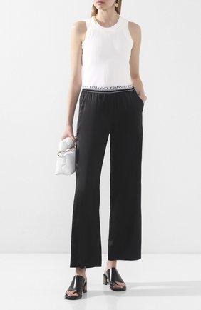 Женские брюки из вискозы ERMANNO ERMANNO SCERVINO черного цвета, арт. 46T PL04 RAS   Фото 2