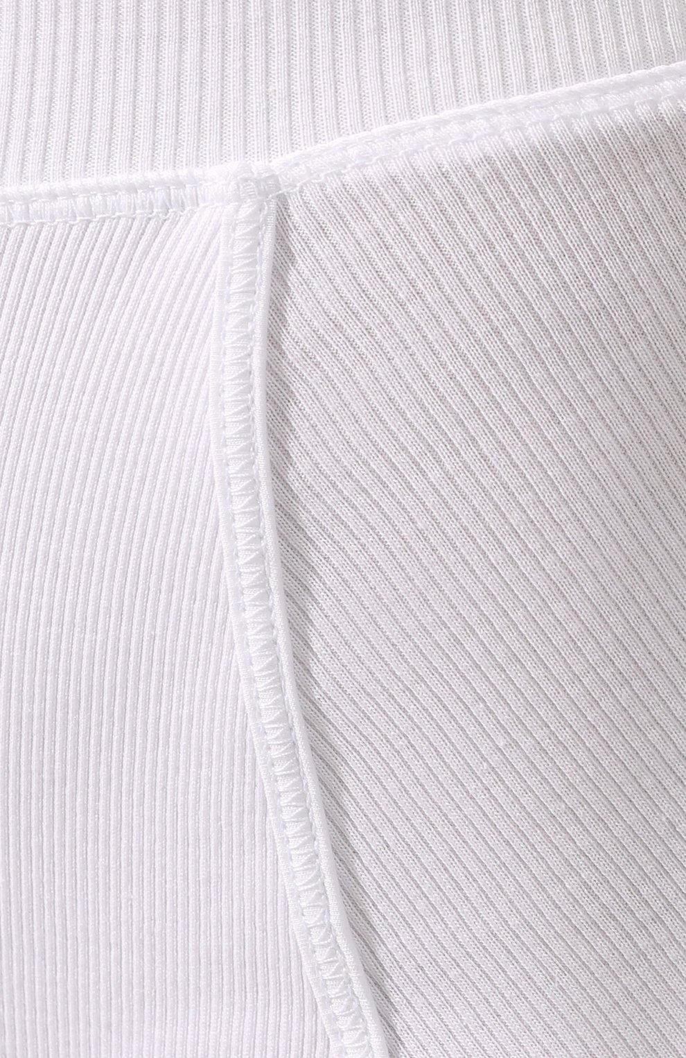 Женские хлопковые шорты DRIES VAN NOTEN белого цвета, арт. 201-11139-9629 | Фото 5 (Женское Кросс-КТ: Шорты-одежда; Длина Ж (юбки, платья, шорты): Мини; Материал внешний: Хлопок; Стили: Спорт-шик)