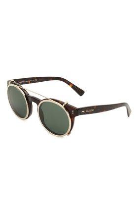 Мужские солнцезащитные очки VALENTINO леопардового цвета, арт. 4009CB-500271 | Фото 1