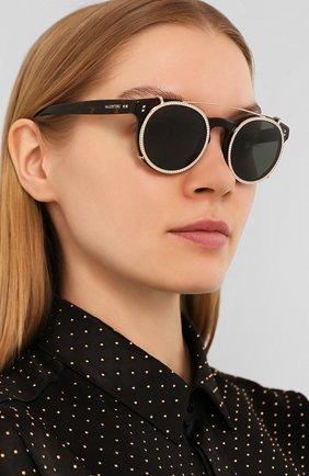 Мужские солнцезащитные очки VALENTINO леопардового цвета, арт. 4009CB-500271 | Фото 2