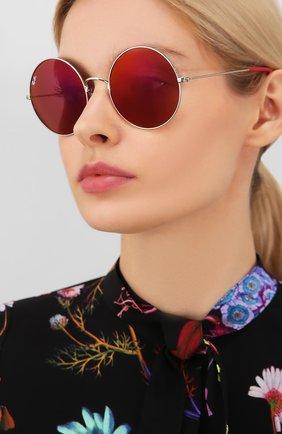 Женские солнцезащитные очки RAY-BAN красного цвета, арт. 3592-003/D0 | Фото 2