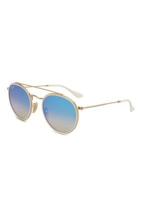 Женские солнцезащитные очки RAY-BAN голубого цвета, арт. 3647N-001/40 | Фото 1