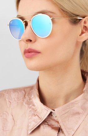 Женские солнцезащитные очки RAY-BAN голубого цвета, арт. 3647N-001/40 | Фото 2