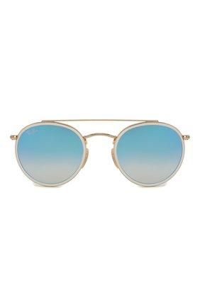 Женские солнцезащитные очки RAY-BAN голубого цвета, арт. 3647N-001/40 | Фото 4