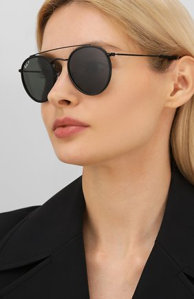 Женские солнцезащитные очки RAY-BAN черного цвета, арт. 3647N-002/58 | Фото 2