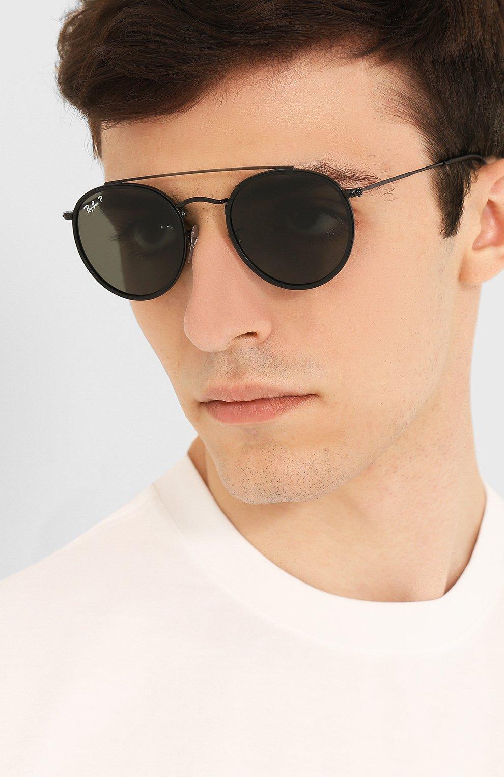 Женские солнцезащитные очки RAY-BAN черного цвета, арт. 3647N-002/58 | Фото 3