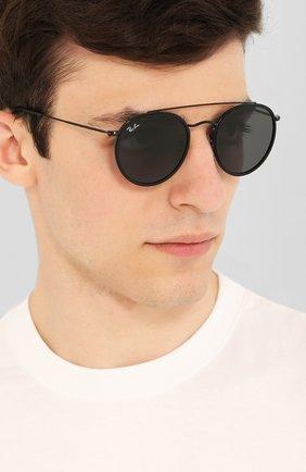 Женские солнцезащитные очки RAY-BAN черного цвета, арт. 3647N-002/R5 | Фото 3