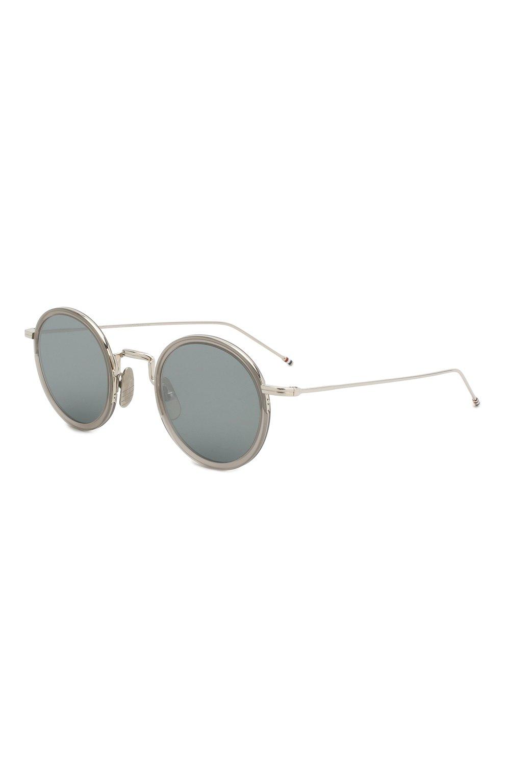 Женские солнцезащитные очки THOM BROWNE серого цвета, арт. TB-906 SUN-03 | Фото 1