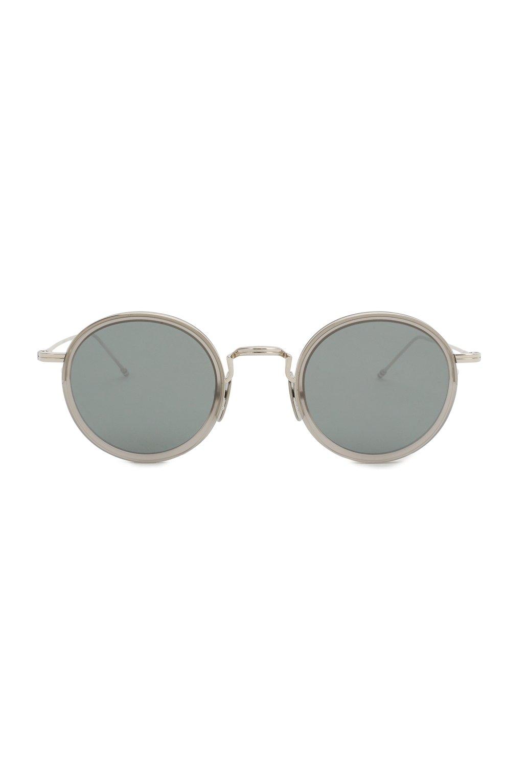 Женские солнцезащитные очки THOM BROWNE серого цвета, арт. TB-906 SUN-03 | Фото 4