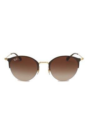 Женские солнцезащитные очки RAY-BAN коричневого цвета, арт. 3578-900913 | Фото 3
