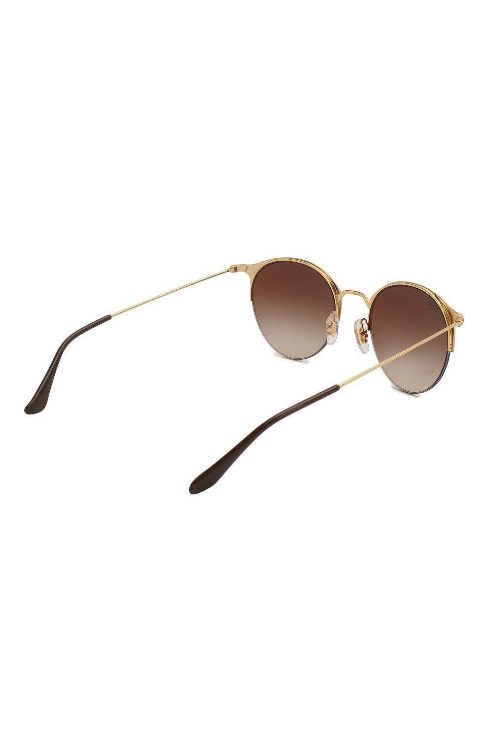 Женские солнцезащитные очки RAY-BAN коричневого цвета, арт. 3578-900913 | Фото 4