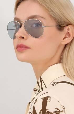 Женские солнцезащитные очки RAY-BAN светло-серого цвета, арт. 3025-9065I5 | Фото 2