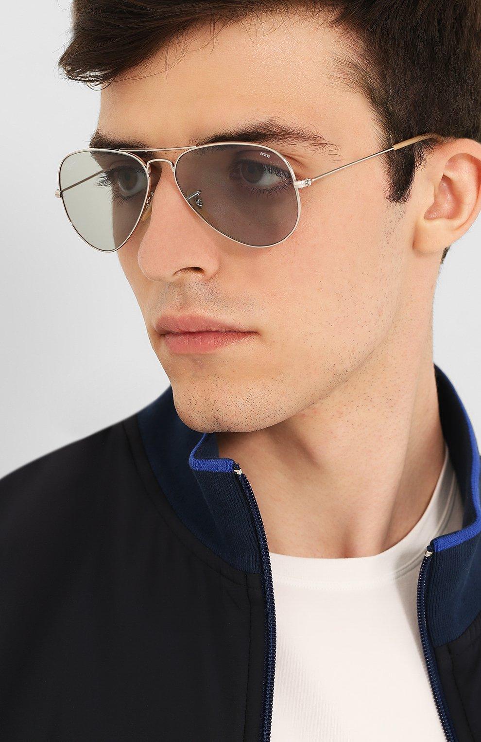 Женские солнцезащитные очки RAY-BAN светло-серого цвета, арт. 3025-9065I5 | Фото 3