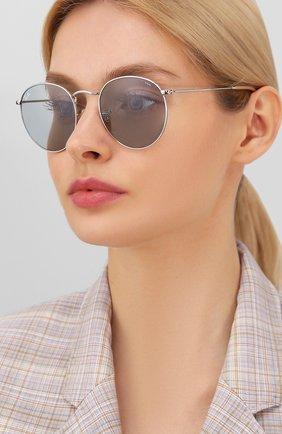 Женские солнцезащитные очки RAY-BAN светло-серого цвета, арт. 3447-9065I5 | Фото 2