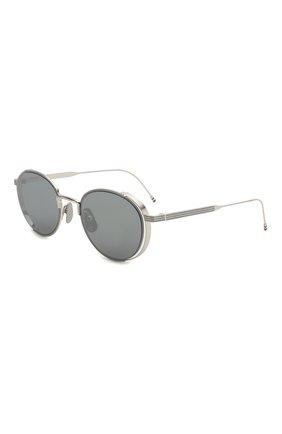 Женские солнцезащитные очки THOM BROWNE серебряного цвета, арт. TB-106-B | Фото 1