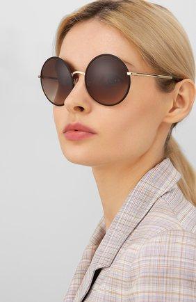 Мужские солнцезащитные очки DOLCE & GABBANA коричневого цвета, арт. 2155-132013 | Фото 2