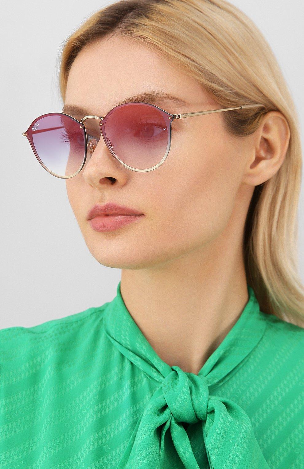Женские солнцезащитные очки RAY-BAN золотого цвета, арт. 3574N-001/X0 | Фото 2