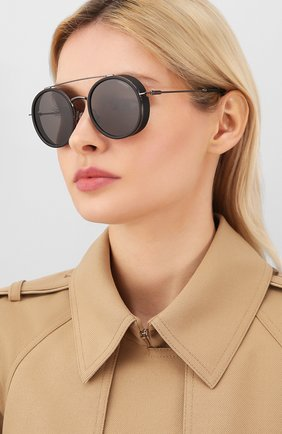 Женские солнцезащитные очки CARRERA черного цвета, арт. CARRERA 167 KJ1   Фото 2 (Тип очков: С/з; Очки форма: Круглые; Оптика Гендер: оптика-унисекс)