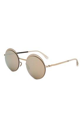 Женские солнцезащитные очки MYKITA золотого цвета, арт. STUDI0 1.4/CHAMPAGNEG0LD/E CHAMPAGNEG0LD | Фото 1
