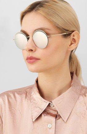 Женские солнцезащитные очки MYKITA золотого цвета, арт. STUDI0 1.4/CHAMPAGNEG0LD/E CHAMPAGNEG0LD | Фото 2